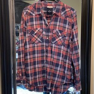 American Eagle boyfriend fit flannel size L